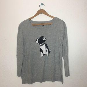 APT. 9 Boston Terrier Sweater XL